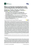 prikaz prve stranice dokumenta Primary Care Provider Counseling Practices about Adverse Drug Reactions and Interactions in Croatia