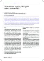 Zrcalni neuroni i njihova potencijalna uloga u psihopatologiji