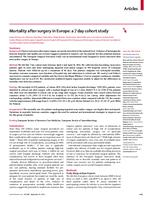prikaz prve stranice dokumenta Mortality After Surgery in Europe: a 7 day Cohort Study