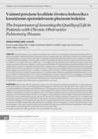 prikaz prve stranice dokumenta Važnost procjene kvalitete života u bolesnika s kroničnom opstruktivnom plućnom bolešću