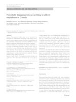 prikaz prve stranice dokumenta Potentially Inappropriate Prescribing in Elderly Outpatients in Croatia